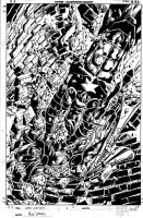 Dark Avengers 4 Cover Pencil by MikeDeodatoJr