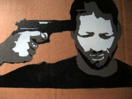 Gun 2 - Stencil by moon-glaze
