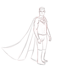 DSC - Superman Sketch by LaceGyver