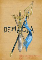 Weapons of the league - Demacian tattoo by lorestra