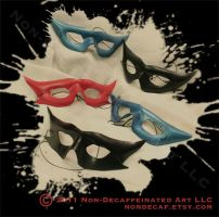 Leather Domino Masks by nondecaf