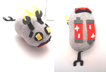 Handmade miniature robot mouse plush by MiniSweetx
