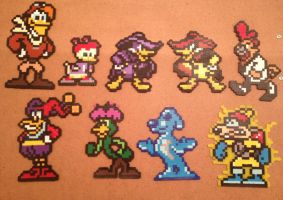 Disney Afternoon NES DARKWING DUCK 8 bit pixel art by Derrico13