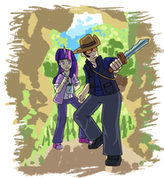 Twilight and Sniper Enter the Mysterious Cave by Ominous-Artist
