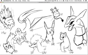 Pokemon Sketches. by Self-Eff4cing