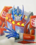 optimus prime sketch markers by Gerlich-Illustration