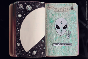 Wreck This Journal: Page 40, 41 by MichaelaKindlova