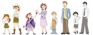 Dunn Family: Aged Up, Aged Down by MissyMeghan3