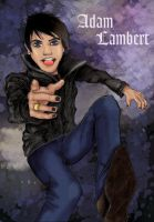 Adam Lambert gone Anime by blondewolf2