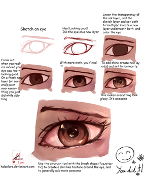 Painting An Eye Tutorial by HalanLore