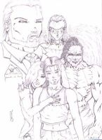 Payne N Suffering group sketch by Rip-Wire