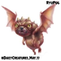 Daily Creatures May 17. RyuPug by Markdotea