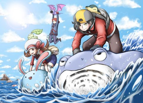 Pokemon Use Surf by e1n