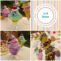 More 1/3 scale ice cream! by LittlestSweetShop