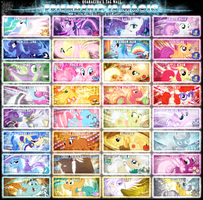 Friendship is Magic Tag Wall 5 by Paradigm-Zero