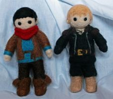 Merlin and Arthur by hiltti