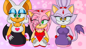 :Amy,Rouge, and Blaze: by sparkle-master01