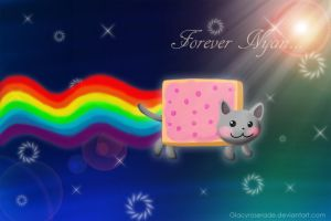 Forever Nyan Cat by GlacyRoserade