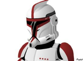 Red clone trooper by InvaderRaf