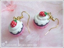 Diy chocolate cupcake earrings by numb-existence