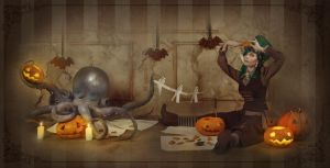 Pumpkin carving by DuertenSchreiber