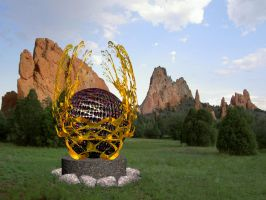 Sculpture at Garden of the Gods by CmdrChaos
