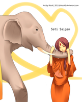 Sati and the Elephant by colART-bloch