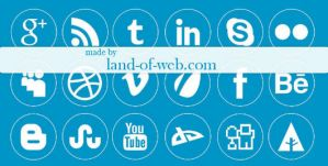FREE White Simple Social Icons Pack by NatalyBirch