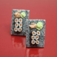 Sushi Studs Earrings by PetitPlat