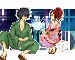Fairy Tail - Erza with Gray by PLlNs