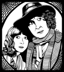The Doctor and Sarah Jane by myst-saphyr