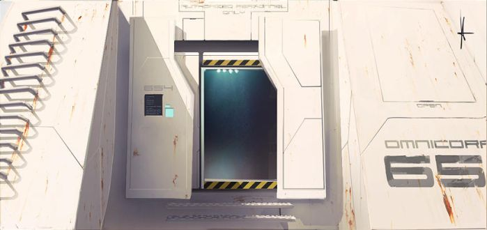 Main entrance to pod-station 654 by e-will