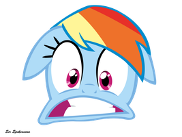 Freaked out Rainbow by SirSpikensons