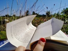a book in nature by ange95