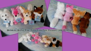 Webkinz Foxes! by Vesperwolfy87