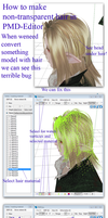 MMD Tutorial:  How to make transparen hair by Tokami-Fuko