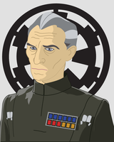 Grand Moff Tarkin by blood-dodo