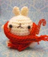 Christmas Molang Amigurumi Candy Cane Kawaii by Spudsstitches