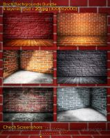 Brick Backgrounds Bundle by mkrukowski