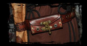 leather belt utility steampunk by Lagueuse