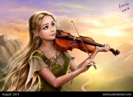 Music Of Sunrise - portrait by Esmira
