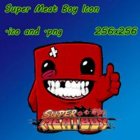 Super Meat Boy Icon by sobrator