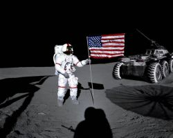 U.S. Army on the Moon by red-shuhart
