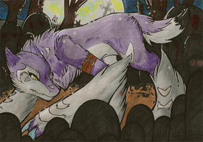 Double-ACEO - Crocutamon by xCastra