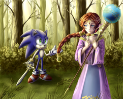 Sonic and Merlina by Alisthecat