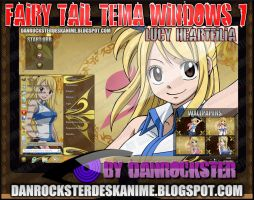 Lucy Heartfilia Theme Windows 7 by Danrockster