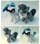 Itty Bitty Vinyl Scratch and Octavia by FollyLolly