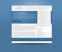 Dan Orman website design 2 by jackinnes