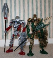 Bionicle MOC: Norik and Iruini by Rahiden
