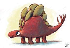 Random Stegosaurus by sketchinthoughts